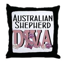 Australian_Shepherd_DIVA Throw Pillow