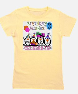 PENGUINBDAY3 Girl's Tee