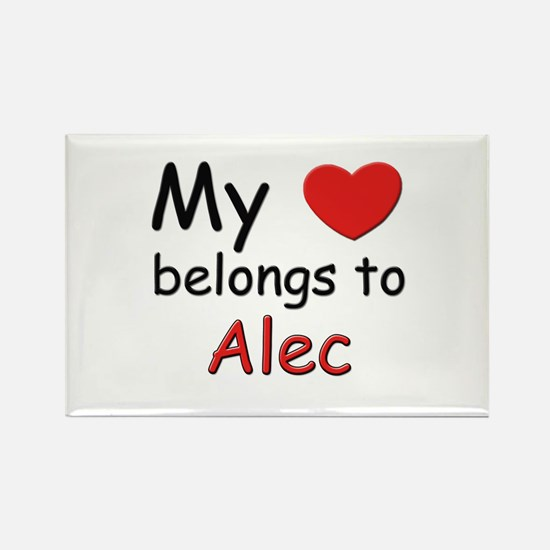 My heart belongs to alec Rectangle Magnet