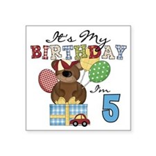 "BEARTEDDY5TH Square Sticker 3"" x 3"""