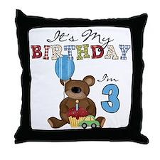 BEARTEDDY3RD Throw Pillow