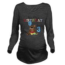 BEARTEDDY3RD Long Sleeve Maternity T-Shirt
