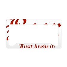 JustBrewIt License Plate Holder
