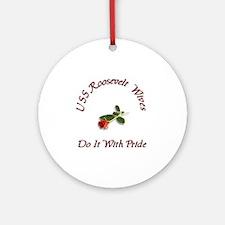 uss roseavelt wives Ornament (Round)