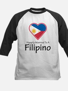 Happily Married Filipino Kids Baseball Jersey