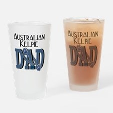 Australian_Kelpie_DAD Drinking Glass
