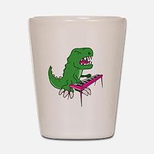 t-rex piano t-shirt Shot Glass