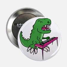 """t-rex piano t-shirt 2.25"""" Button"""