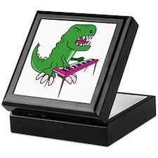 t-rex piano t-shirt Keepsake Box