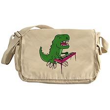 t-rex piano t-shirt Messenger Bag