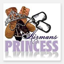"Airmans Princess Square Car Magnet 3"" x 3"""