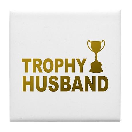 Trophy Husband Tile Coaster
