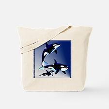 Killer Whale Family_pillow Tote Bag