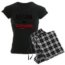 compassion-vegan-3-white Pajamas