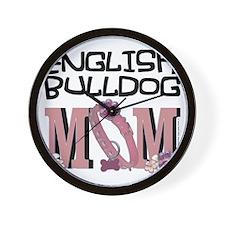 EnglishBulldogMOM Wall Clock