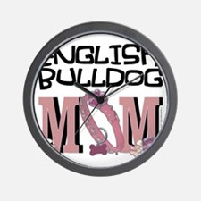 EnglishBulldogMOM Wall Clock