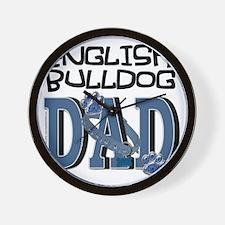 EnglishBulldogDAD Wall Clock