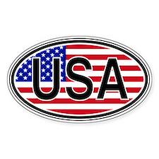 USA Euro Oval Decal