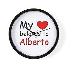 My heart belongs to alberto Wall Clock