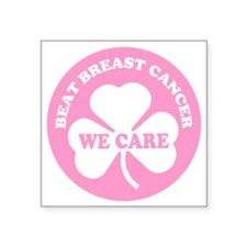 "beat breast cancer Square Sticker 3"" x 3"""