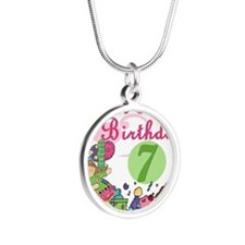 ZXSUPERSWEET7 Silver Round Necklace