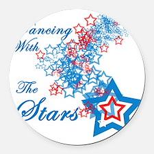 dancing stars2 Round Car Magnet