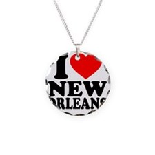 Love NO Necklace Circle Charm