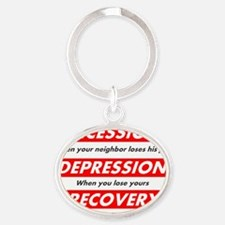 recession Oval Keychain