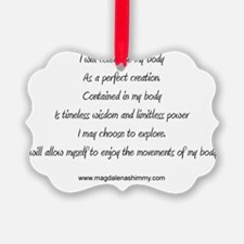 body perfect creation text Ornament
