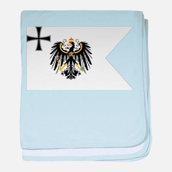 Prussian War Flag - Flagge Preußens baby blanket