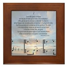 Grace Note Ornament Framed Tile