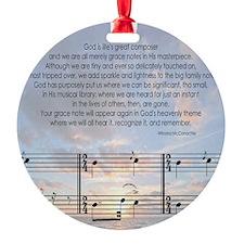 Grace Note Tile1 Ornament