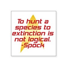 "huntspecies Square Sticker 3"" x 3"""