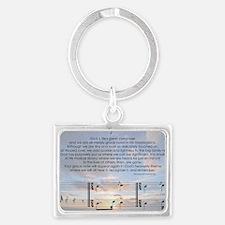 Grace Note l4x10 copy Landscape Keychain