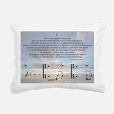 Grace Note l4x10 copy Rectangular Canvas Pillow