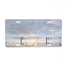 Gods Grace Note Aluminum License Plate