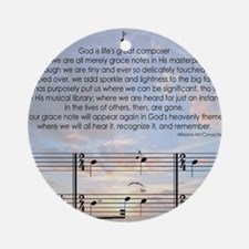 Grace Note Note Round Ornament