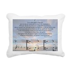 Grace Note Note Rectangular Canvas Pillow