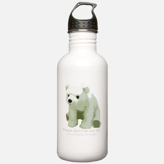 dont let die polar bea Water Bottle