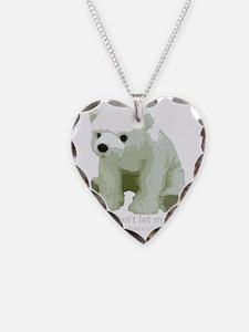 dont let die polar bear Necklace
