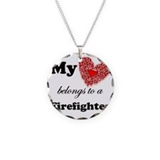 my heart fireman copy Necklace