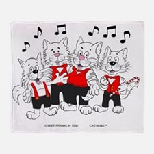 Chorus Cats in color best best Throw Blanket