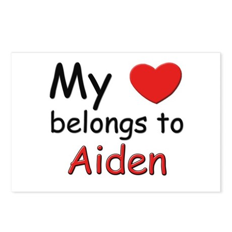 My heart belongs to aiden Postcards (Package of 8)