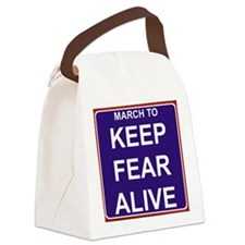 marchtokeepfearaliveslogoblack Canvas Lunch Bag