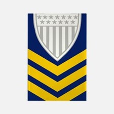 2-USCG-Rank-PO1-Tile-Embroidered Rectangle Magnet