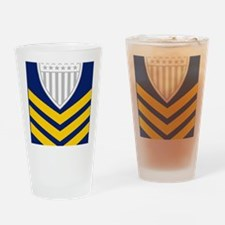 2-USCG-Rank-PO1-Tile-Embroidered Drinking Glass