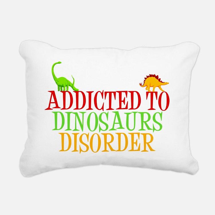 dinosauraddictwh Rectangular Canvas Pillow