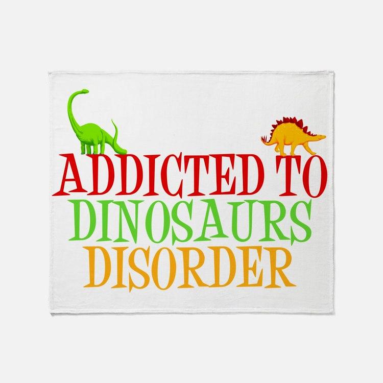 dinosauraddictwh Throw Blanket