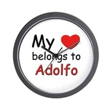 My heart belongs to adolfo Wall Clock