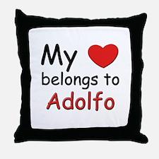 My heart belongs to adolfo Throw Pillow
